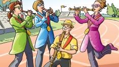 Les athlètes de la flûte à bec